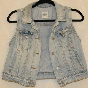 Old Navy Light Wash Sleeveless Women's Jean Vest